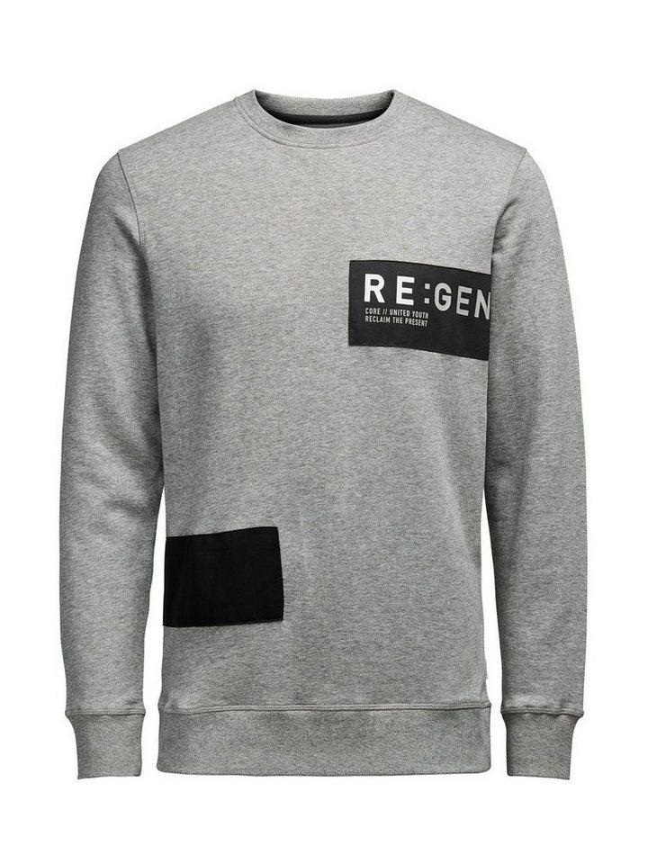 Jack & Jones Detailliertes Sweatshirt in Light Grey Melange