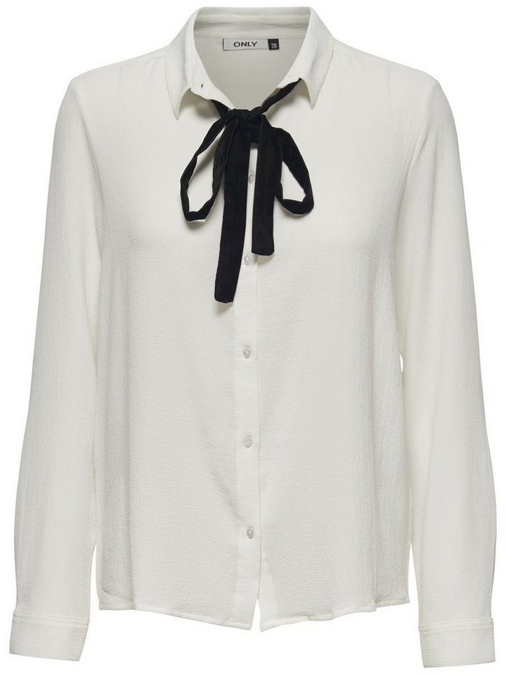 Only Detailed Long sleeved shirt in Cloud Dancer