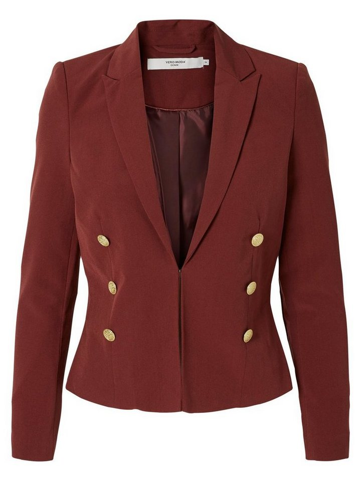 Vero Moda Kurzer Blazer in Decadent Chocolate