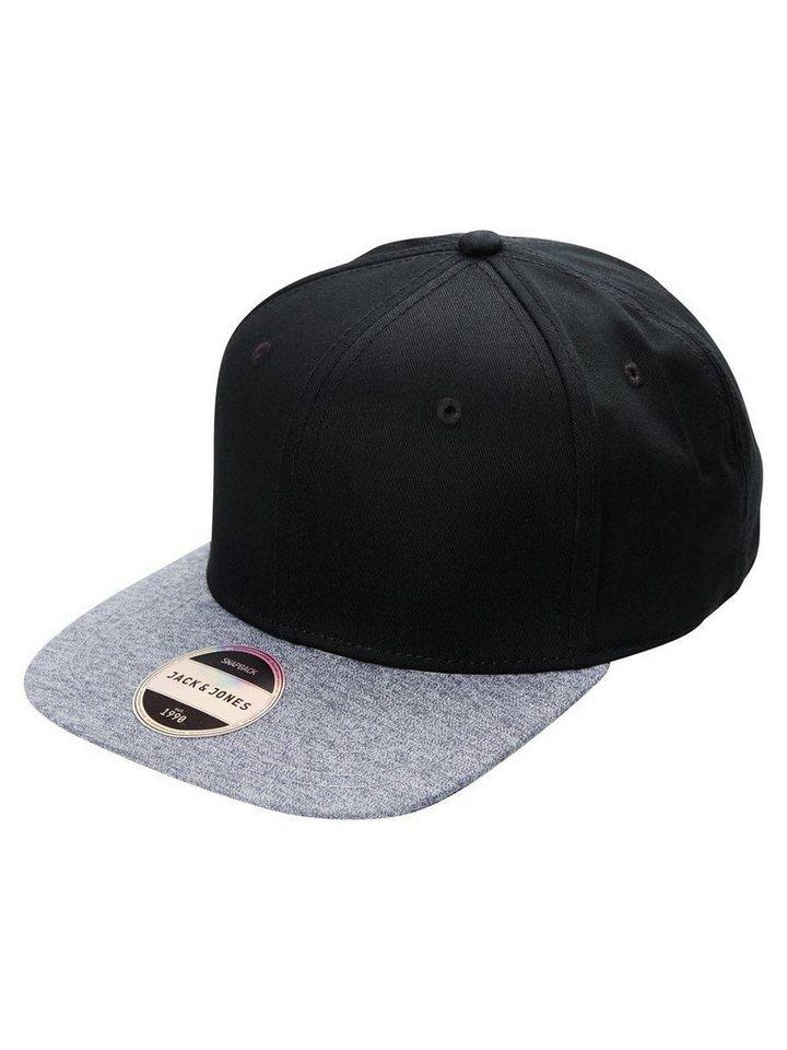 Jack & Jones Snapback Cap in Black