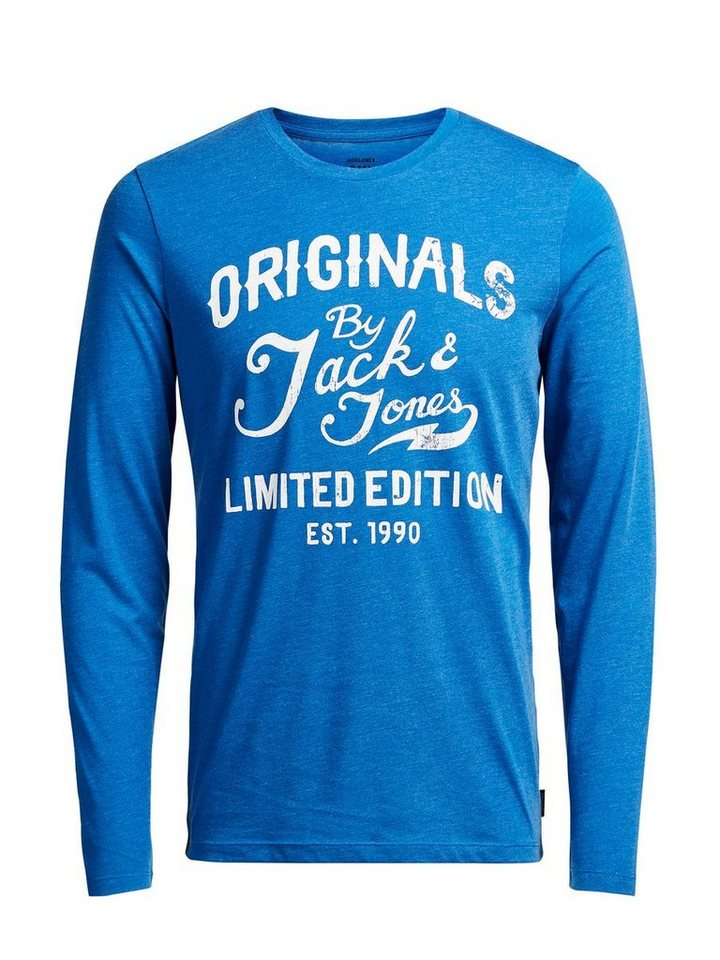 Jack & Jones Lässiges, langärmeliges T-Shirt mit langen Ärmeln in Classic Blue