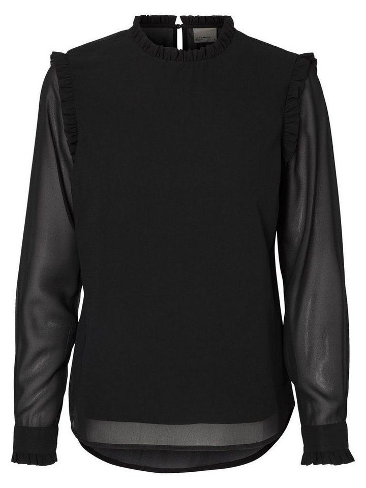 Vero Moda Feminine Langarmbluse in Black 2