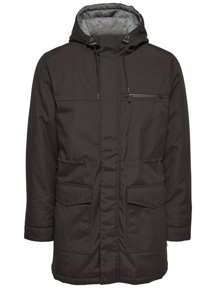 ONLY & SONS Langer Parka in Black