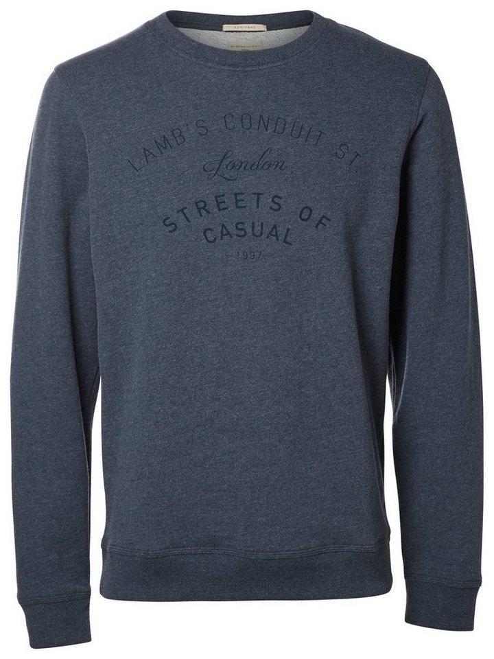 Selected O-Ausschnitt- Sweatshirt in Blueberry