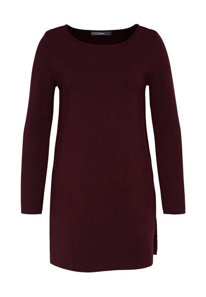 HALLHUBER Long Pullover mit Seitenschlitzen in burgunder