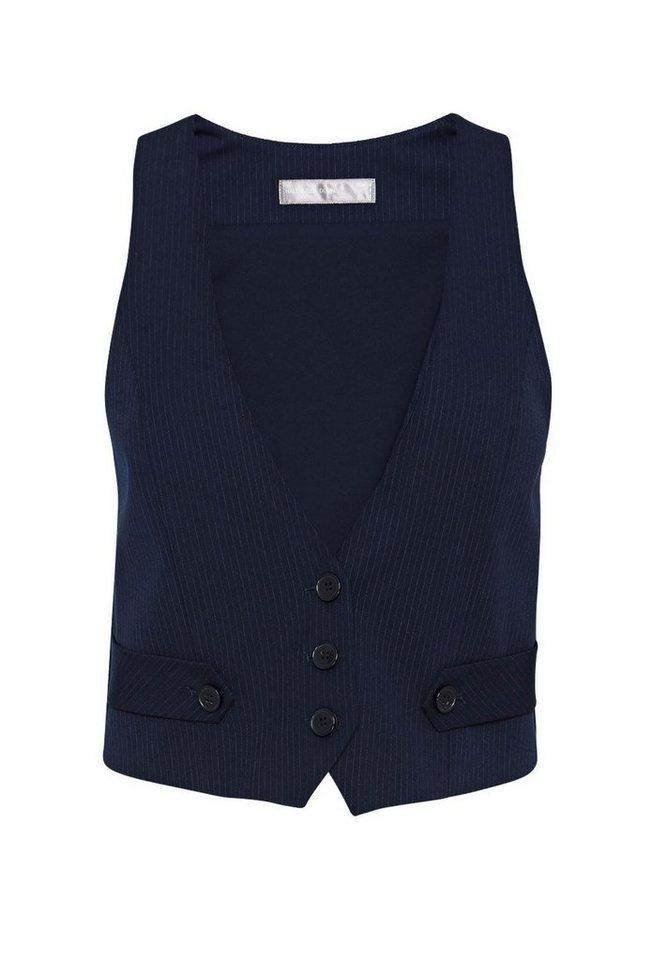 HALLHUBER Anzug-Weste mit Nadelstreifen in tintenblau