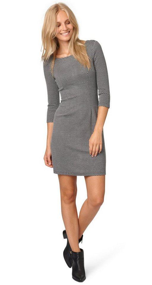 TOM TAILOR Kleid »gemustertes Kleid mit Struktur« in Coal Grey