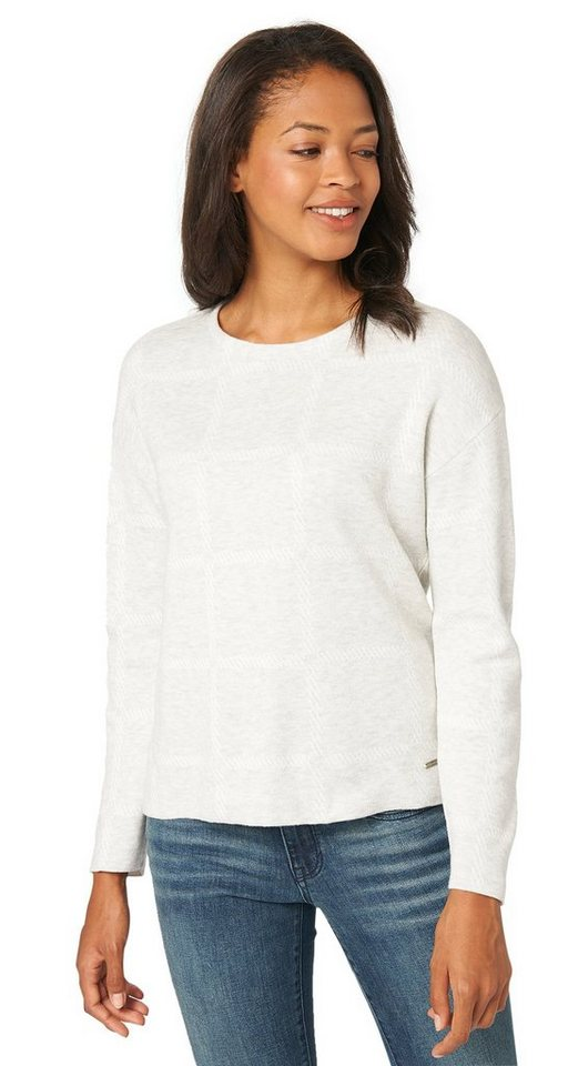 TOM TAILOR Pullover »Jacquard-Sweater mit Muster« in bleached grey melang