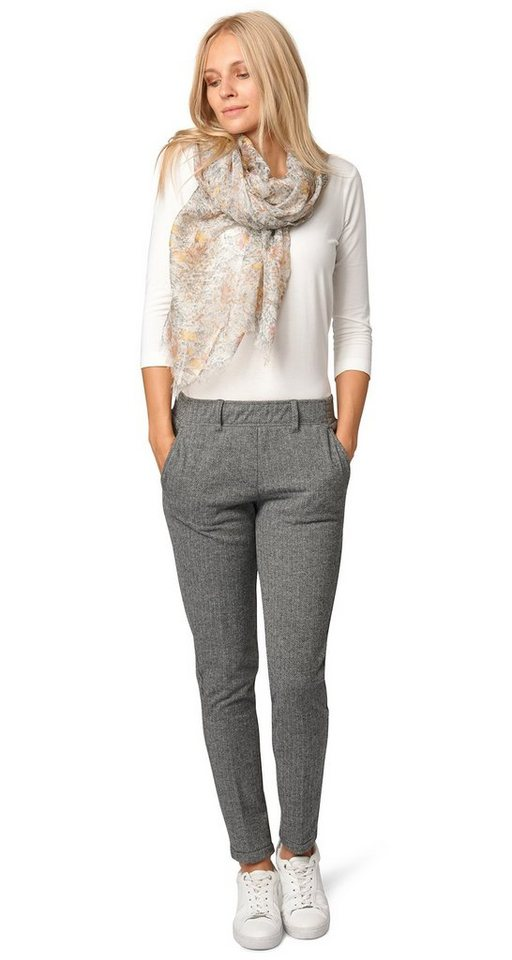 TOM TAILOR Hose »feminine loose fit pants Tabea« in smoked pearl grey