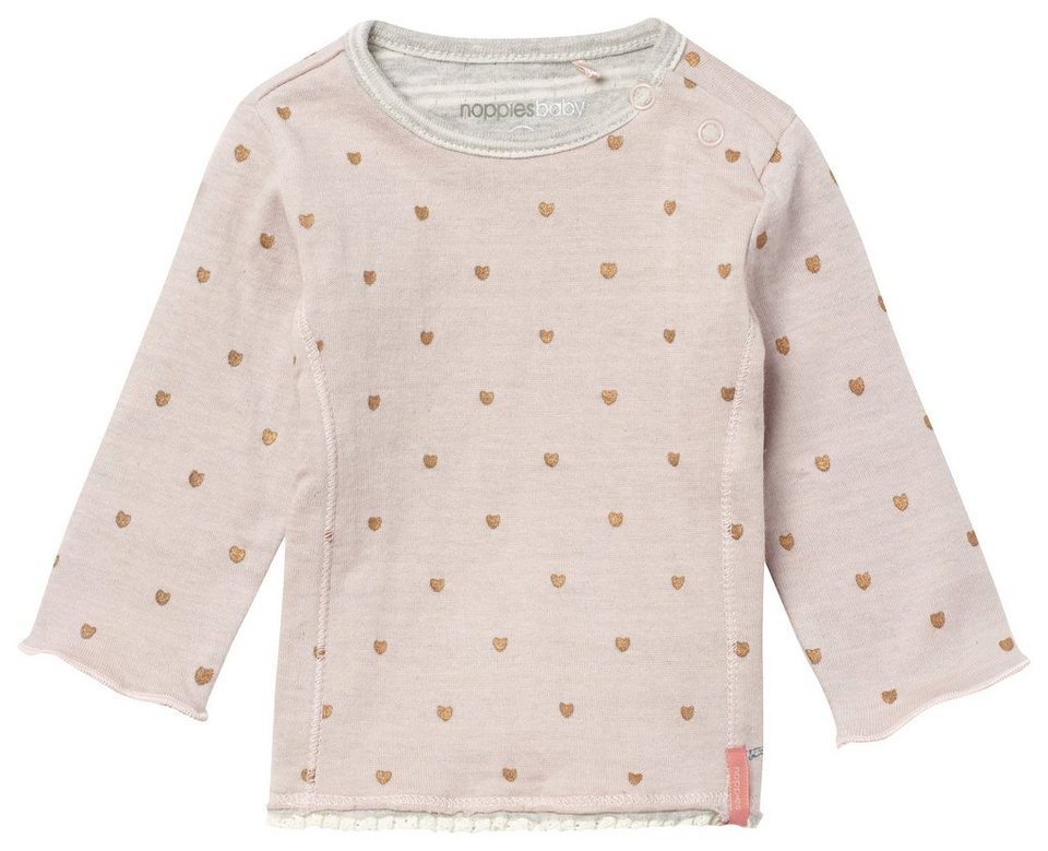 NOPPIES Langarmshirt »Cairo« in Blush