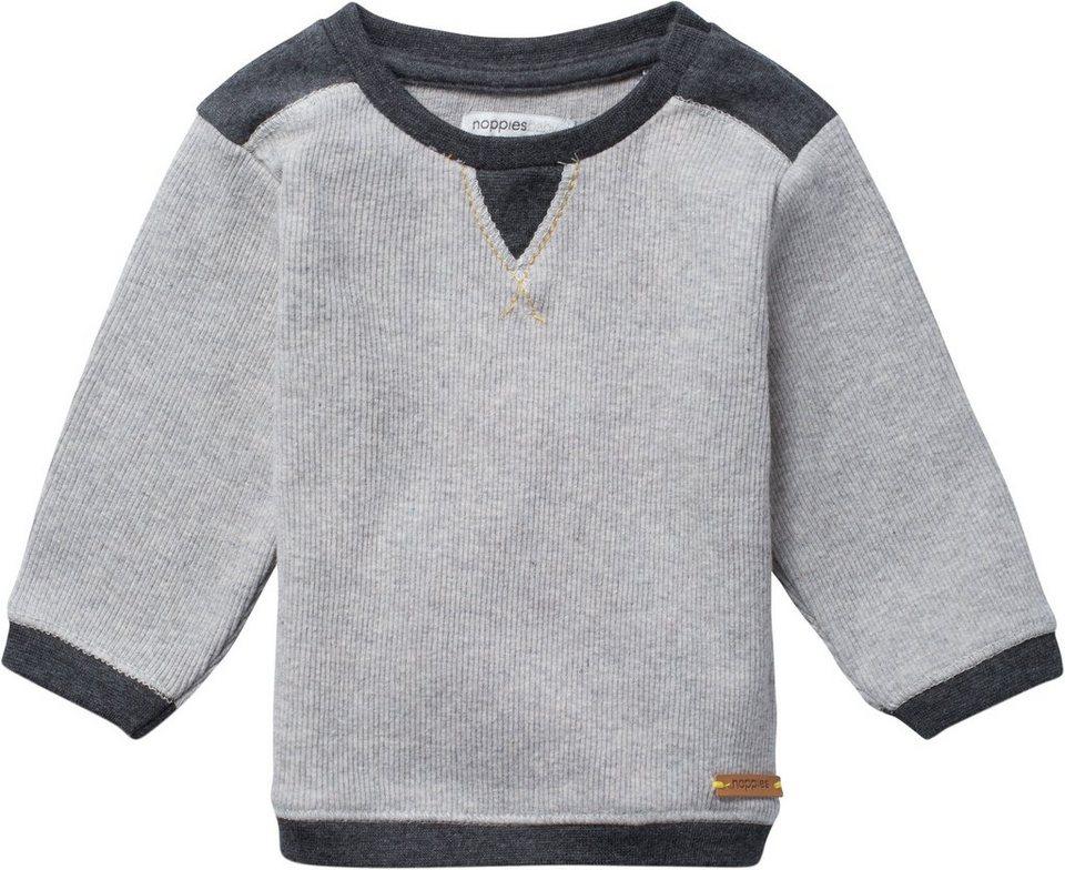 NOPPIES Langarmshirt »Columbia« in Light Grey Melange