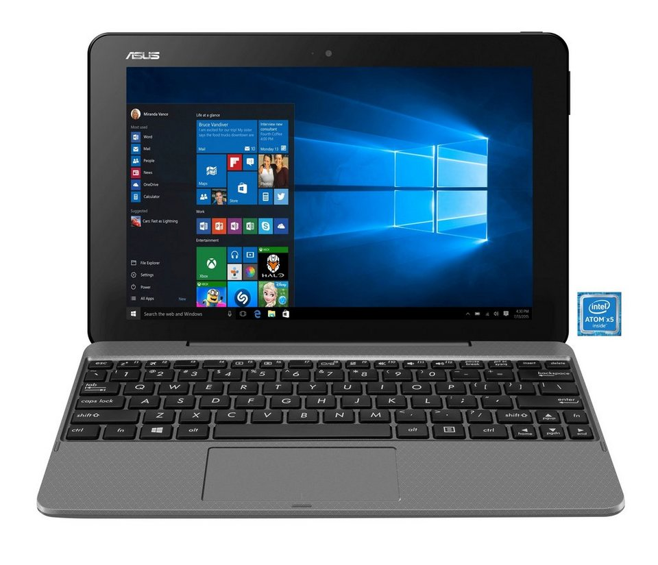 "ASUS T101HA-GR005T Notebook »Intel Atom x5-Z8350, 25,7cm (10,1""), 128 GB, 2 GB« in grau"