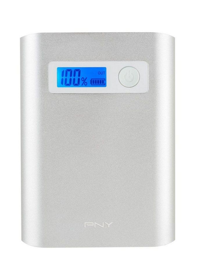 PNY mobile Powerbank » Powerpack Alu Digital 10400« in silber