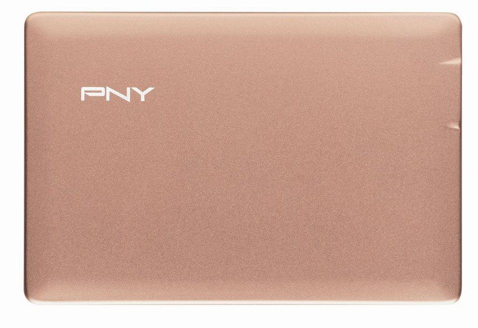 PNY mobiler Akku »Powerpack ALU 2500« in pink