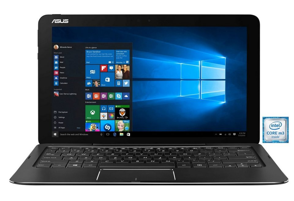 "ASUS T302CA-FL012T Notebook »Intel Core m3, 31,7cm (12,5""), 256 GB SSD, 8 GB« in schwarz"