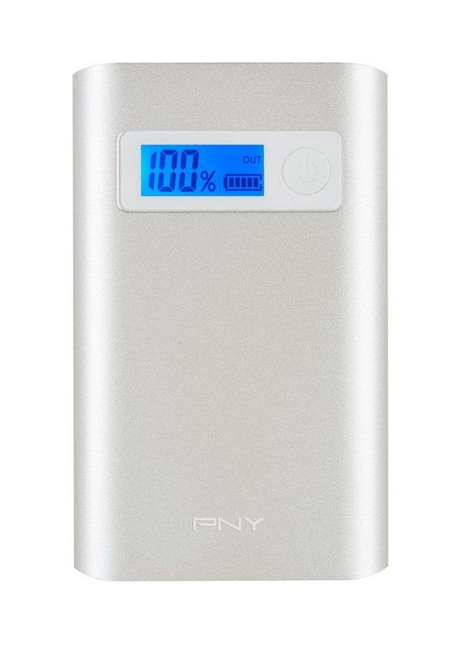 PNY mobile Powerbank »Powerpack ALU Digital 7800« in silber