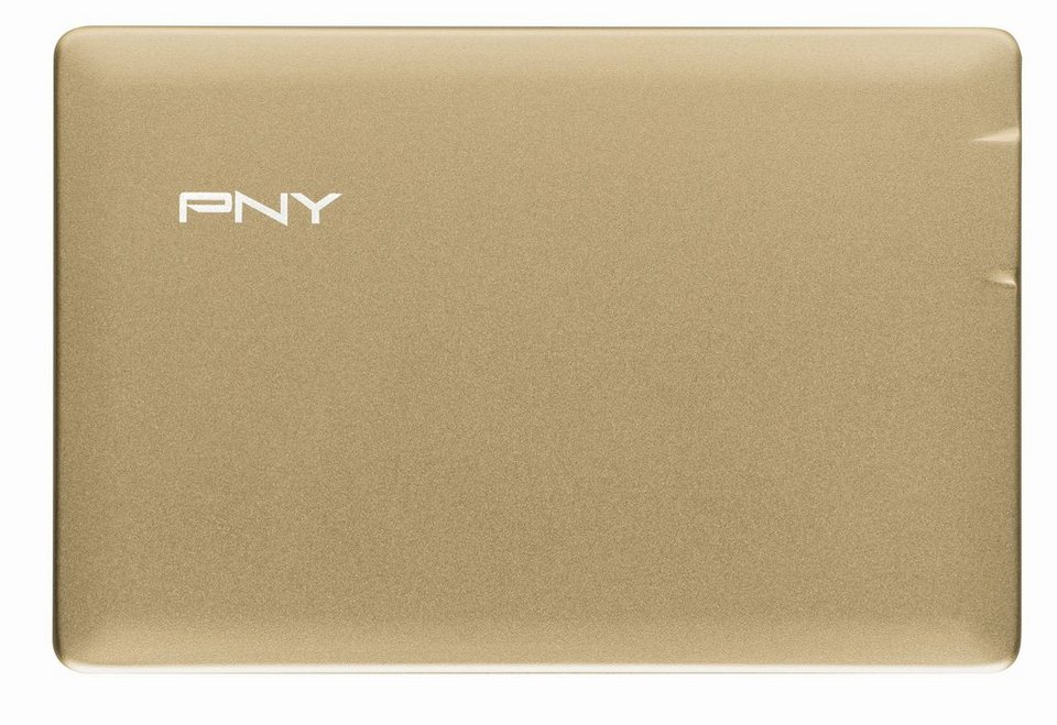 PNY mobiler Akku »Powerpack ALU 2500« in gold