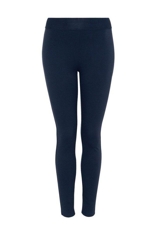 HALLHUBER Leggings mit breitem Bund in dunkelblau