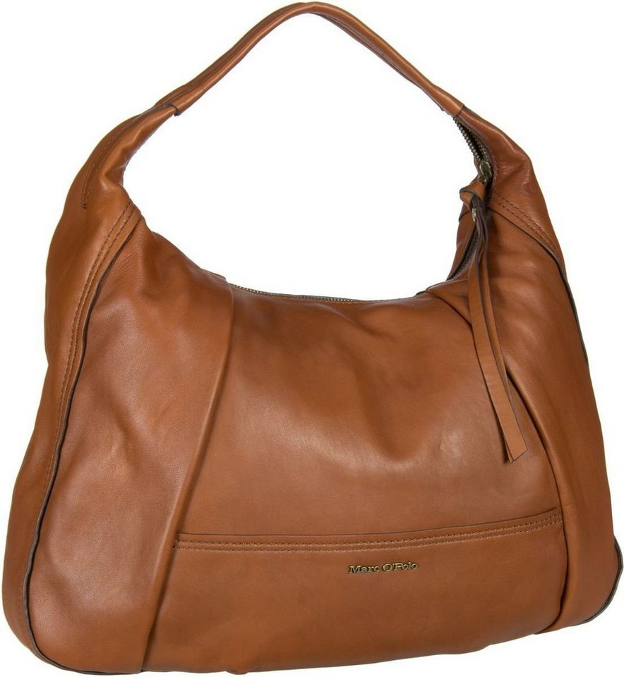Marc O'Polo Loana Hobo Bag M in Cognac
