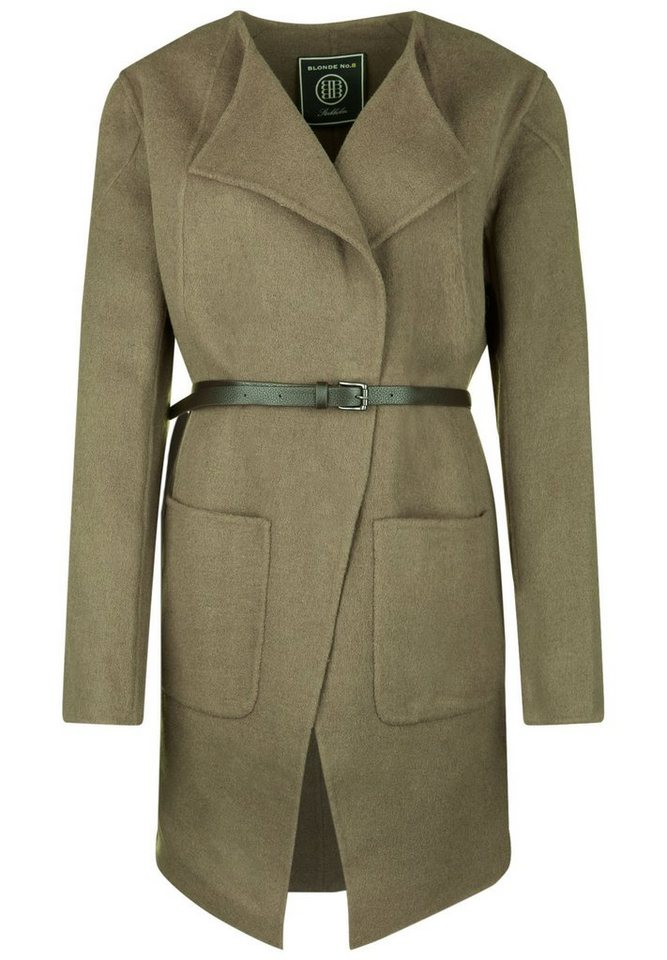 Blonde No.8 Mantel »OPEN LAPEL« in taupe