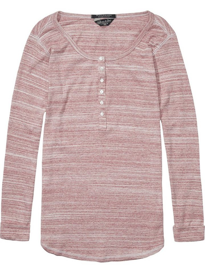 Maison Scotch Sweatshirt »Granddad sweat in various qualities« in weiß