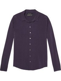 Maison Scotch Bluse »Soft viscose shirt with star buttons« in blau
