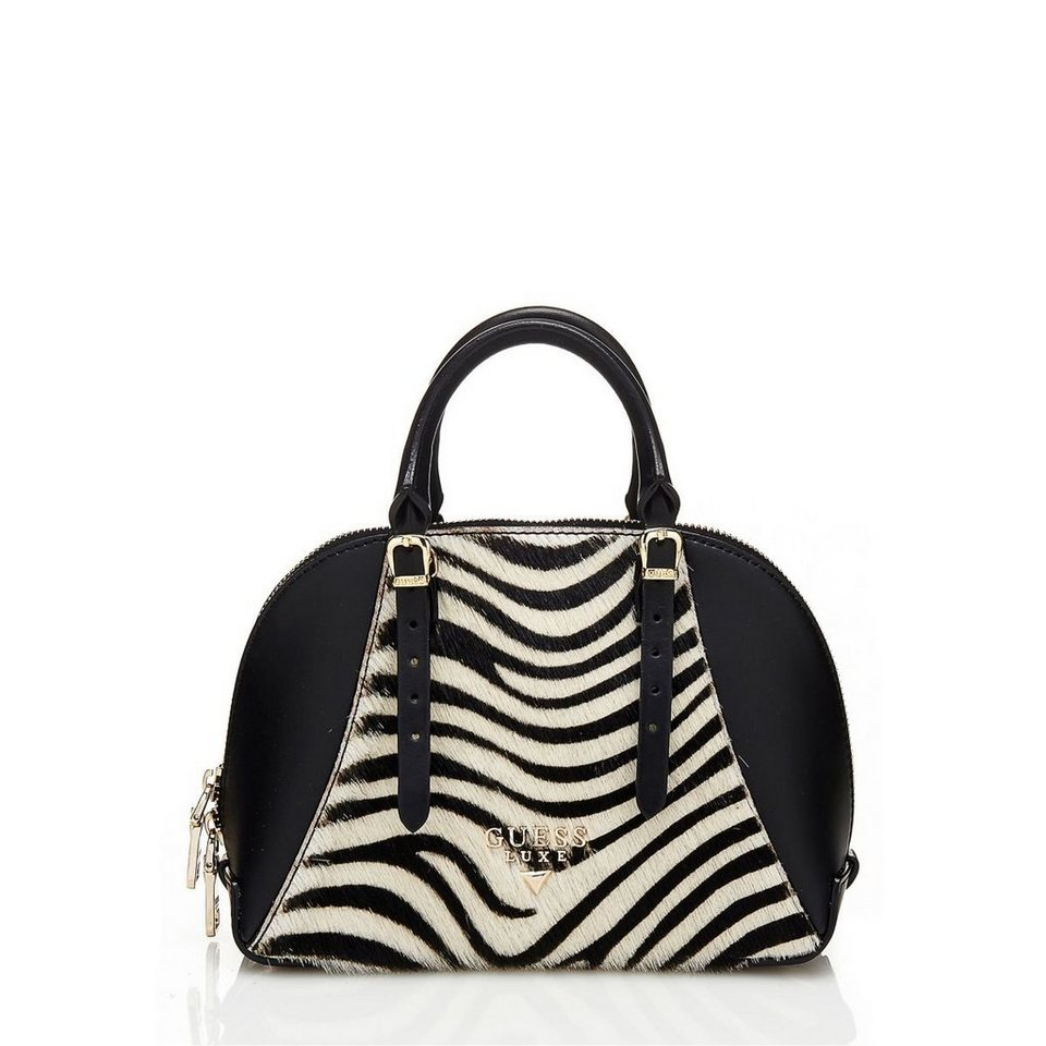 Guess MINI-BAULETTO LADY LUXE AUS LEDER in Animalier