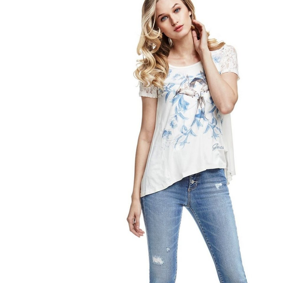 Guess PRINT-T-SHIRT in Weiß