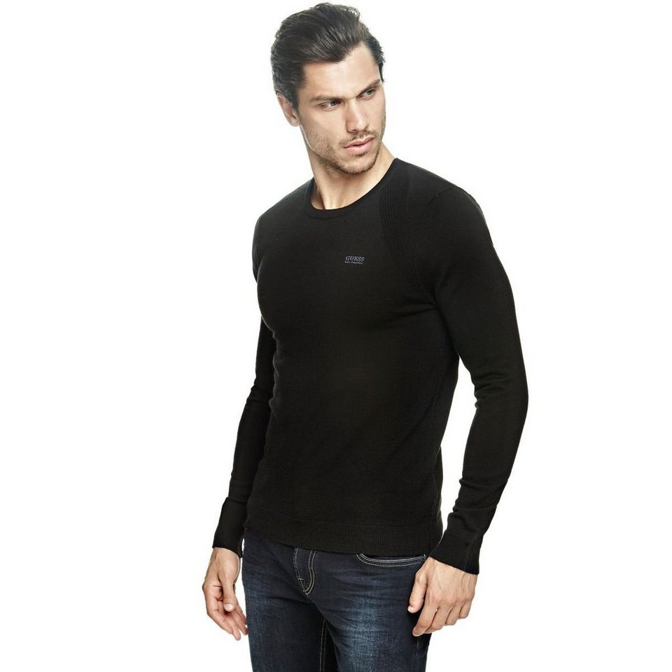 Guess PULLOVER WOLLMIX in Schwarz