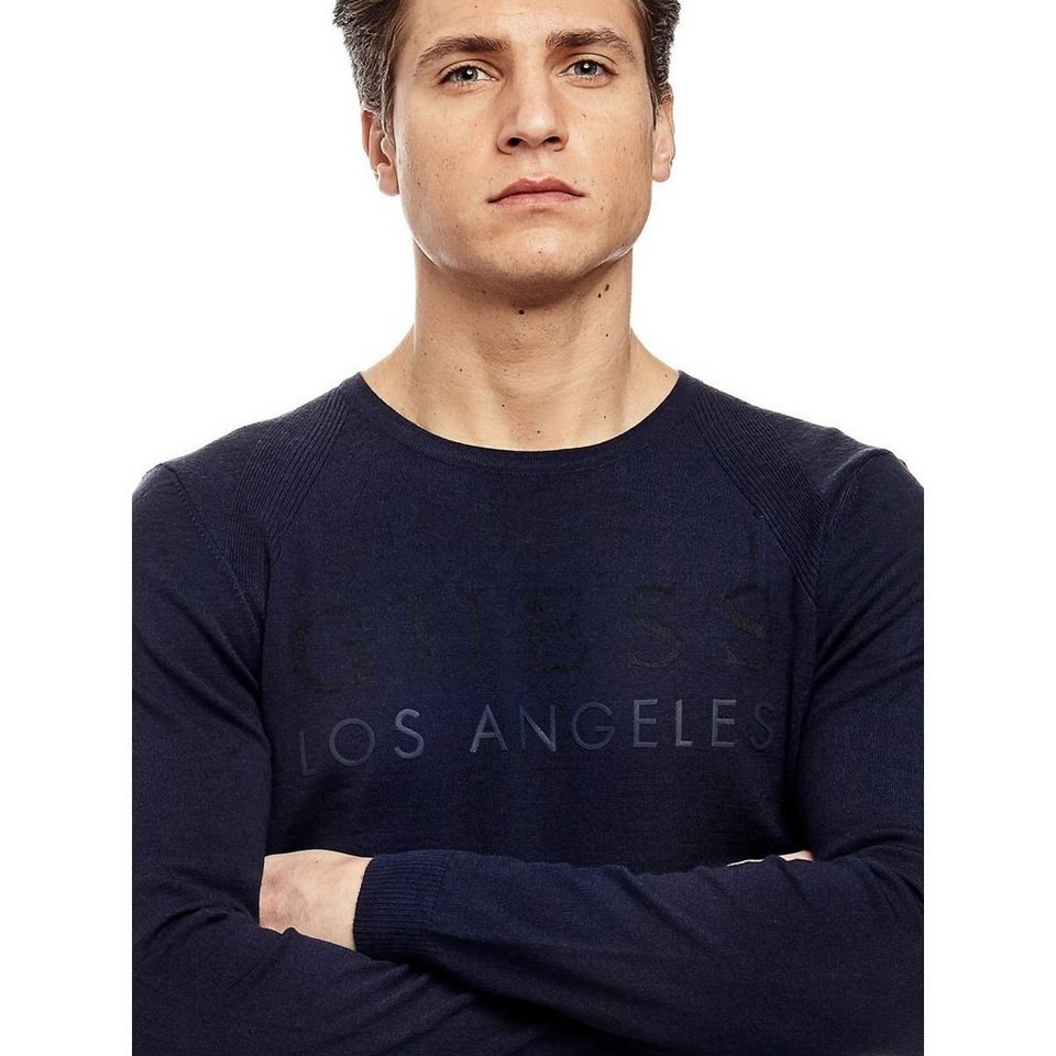Guess LOGO-PULLOVER in Blau