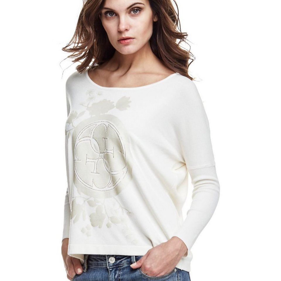 Guess LOGO-PULLOVER in Weiß