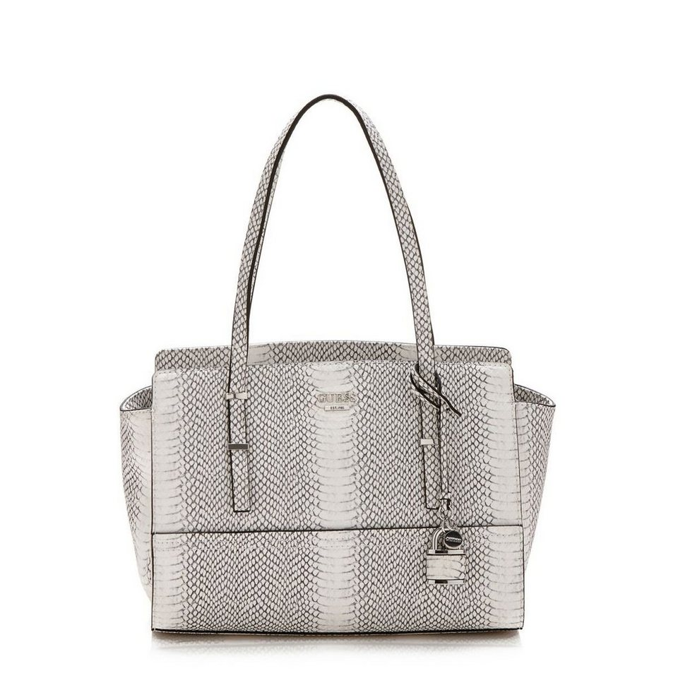 Guess HENKELTASCHE DEVYN PYTHON-OPTIK in Grau