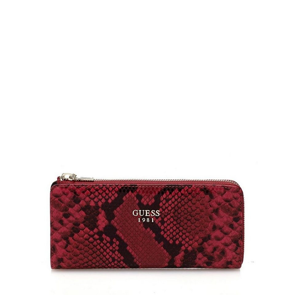 Guess PORTEMONNAIE CATE PYTHON-OPTIK in Rot