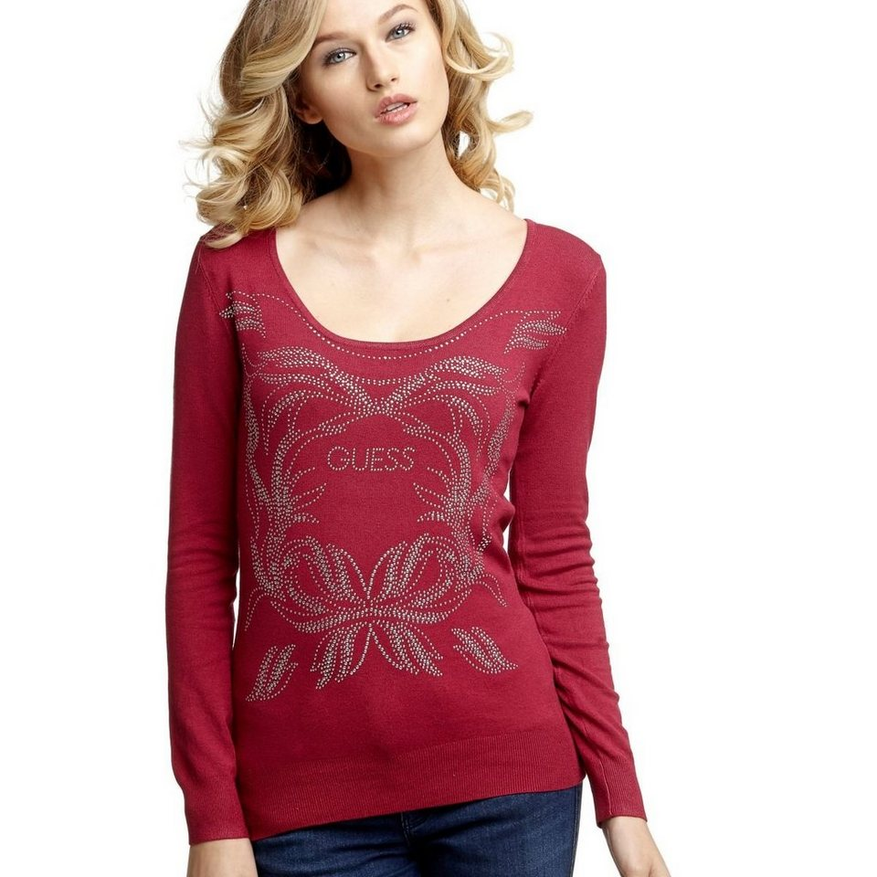 Guess LOGO-PULLOVER GIRLANDE in Rot
