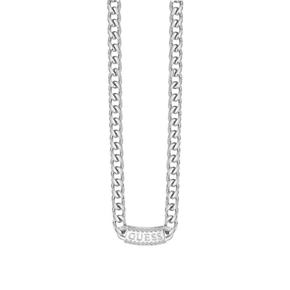 Guess HALSKETTE URBAN COUTURE MIT LOGO in Argent