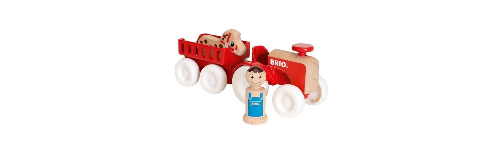 BRIO Traktor mit Pferde-Anhänger
