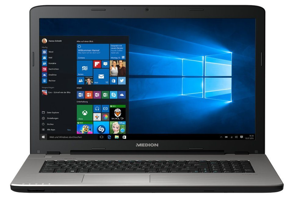 "MEDION® AKOYA® P7641 17,3"" Notebook MD 60014 »Intel® Core Prozessor, 128GB SSD, 8GB RAM« in titan"