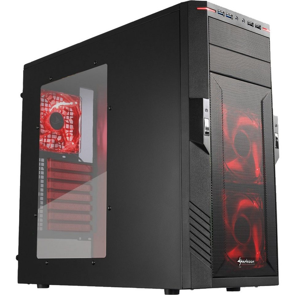 Sharkoon Tower-Gehäuse »T28 red edition«