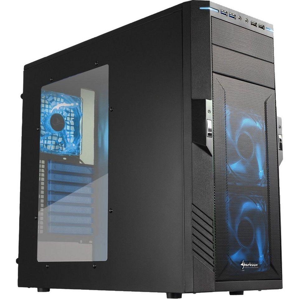 Sharkoon Tower-Gehäuse »T28 blue edition«