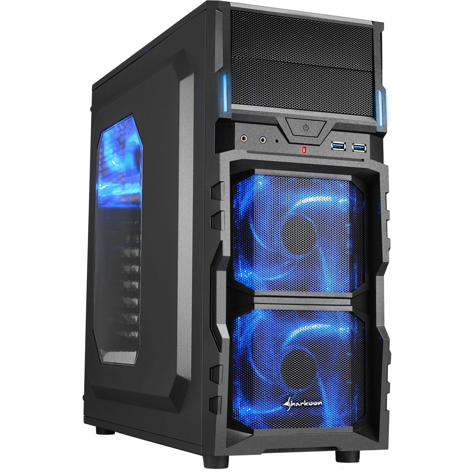 Sharkoon Tower-Gehäuse »VG5-W blue«