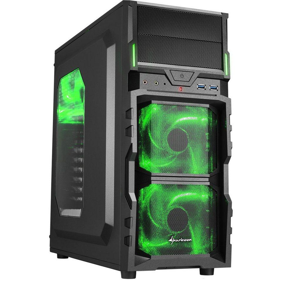 Sharkoon Tower-Gehäuse »VG5-W green«