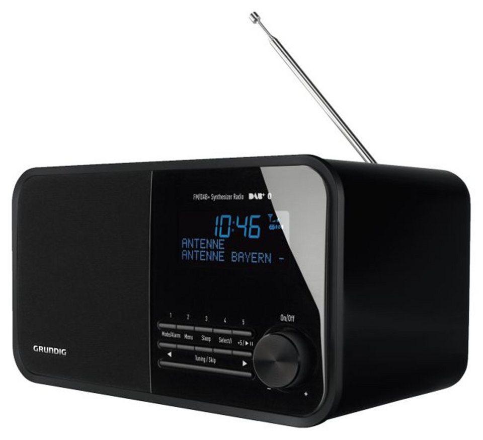 Grundig Digitales Radio, DAB+, UKW-RDS, Bluetooth, AUX »TR 2500 DAB+« in schwarz glänzend