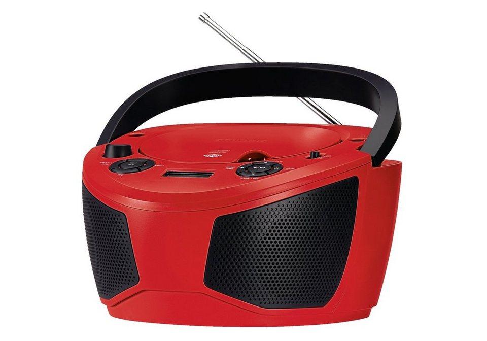 Grundig Tragbares Radio mit CD-Player »RCD 1050« in red/black