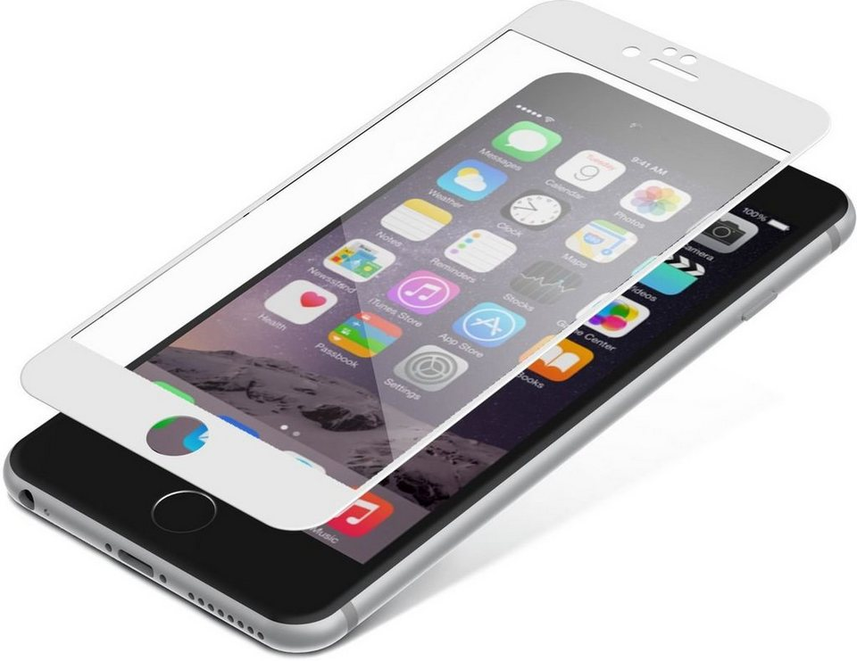 invisibleSHIELD Folie »Glass Luxe Full Screen- iPhone 6 Plus« in Transparent-Weiß