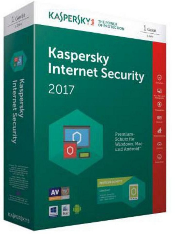 Kaspersky Sicherheits-Software »Internet Security 2017 + Android Sec. 1User« in keine Farbe