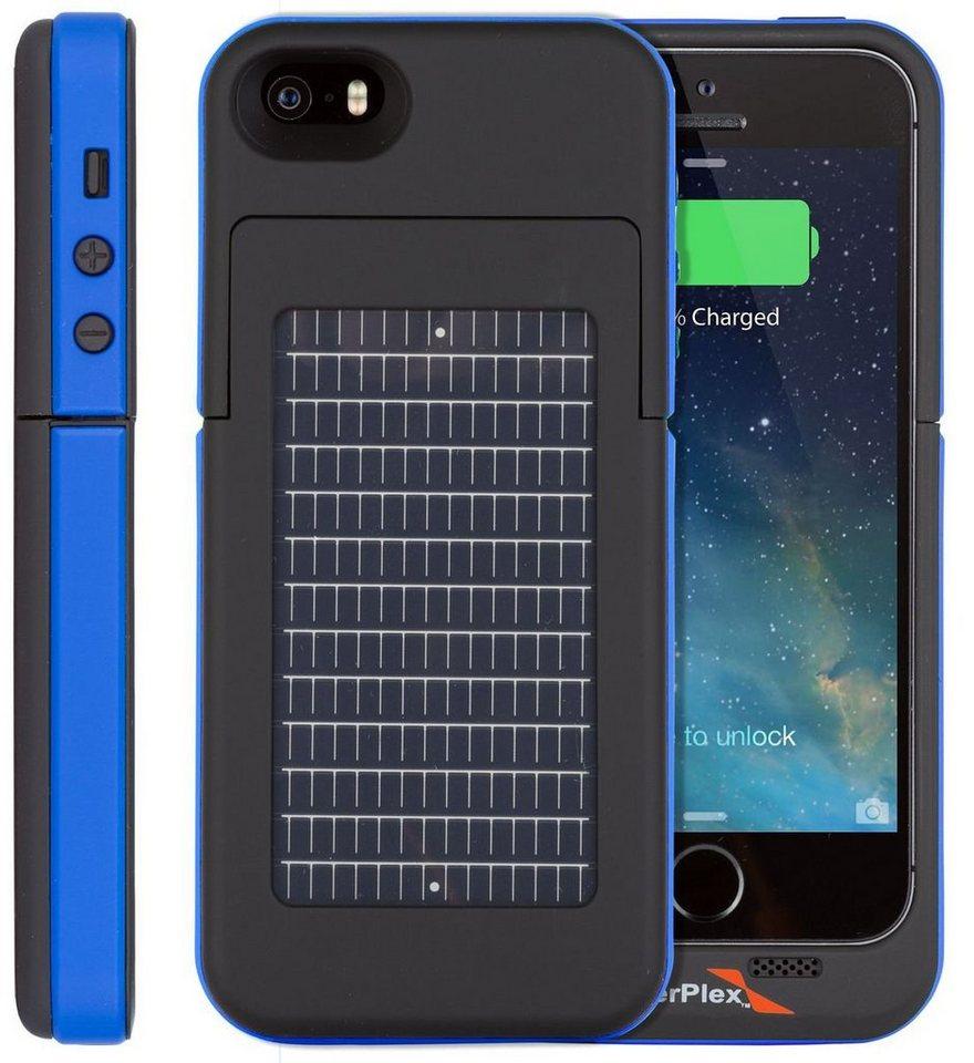 Enerplex Mobil Power »Surfr iPhone 5/5S/SE - Solarladecover« in Blau-Schwarz