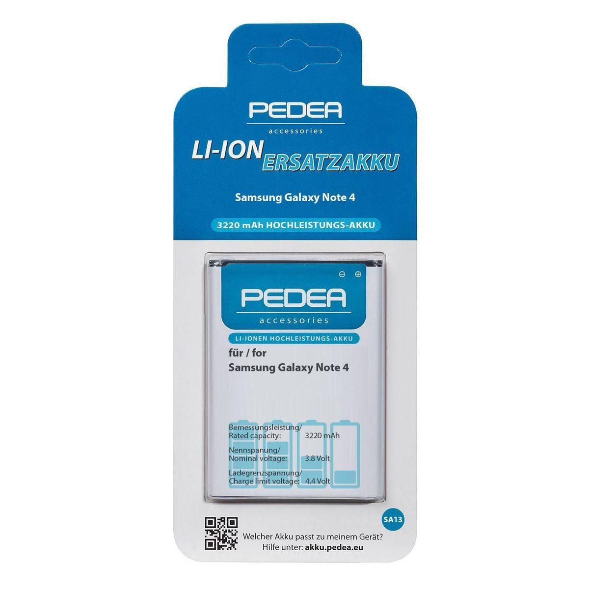 PEDEA Akku »3220 mAh Li-ion für Samsung Galaxy Note 4«