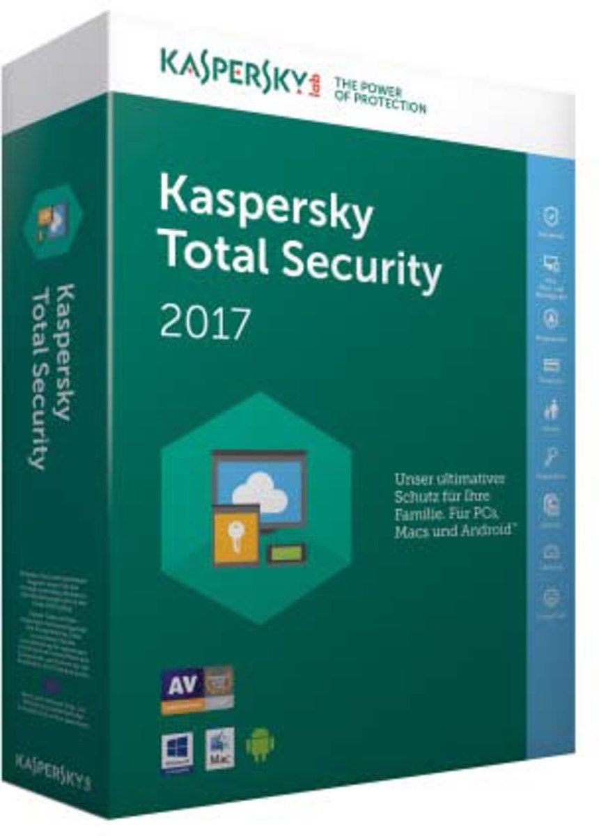 Kaspersky Sicherheits-Software »Total Security Multi-Device 2017 1User«