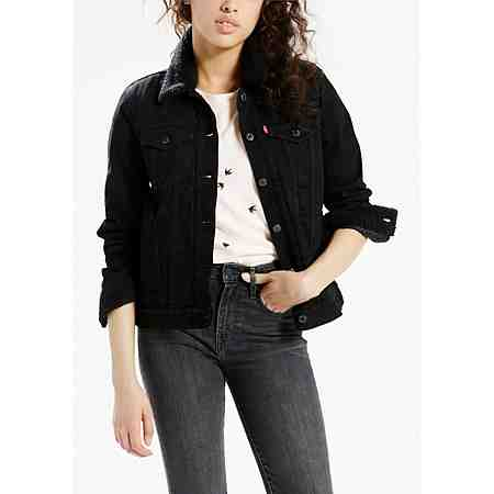 Levi's® Jeansjacke mit Fellimitatdetails