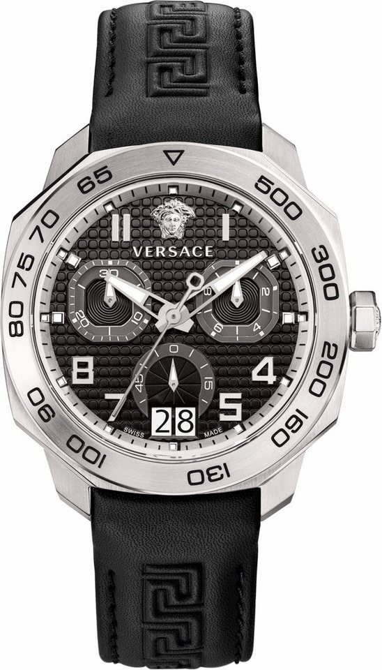 Versace Chronograph »DYLOS, VQC010015« in schwarz